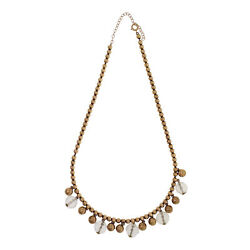 Vintage 1930 Gold And Quartz Faceted Bead Necklace 14k Yellow Gold