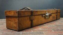 Amazing Rare Xl Military Instrument Leather Carrier