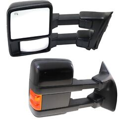 Tow Mirror Set For 2010 Ford F250 Super Duty Left And Right Side Power Heated