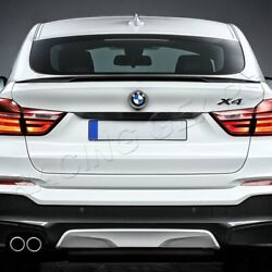 Fit 2015-2017 Bmw X4 F26 P-style Real Carbon Fiber Rear Trunk Duck Spoiler Wing