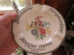 Very Fine Villeroy And Boch Mettlach Advertising Pottery Ashtray Rotisserie