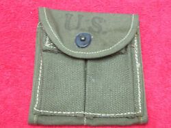 Us Original Wwii M1-carbine Stock Pouch Dated 1943