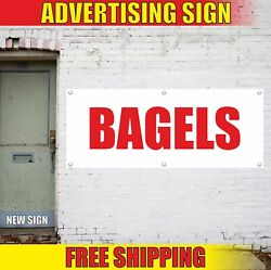 Bagels Advertising Banner Vinyl Mesh Decal Sign Store Bakery Candy Food Shop