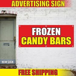 Frozen Candy Bars Advertising Banner Vinyl Mesh Decal Sign Ice Desserts Carnival