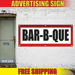 Bar-b-que Advertising Banner Vinyl Mesh Decal Sign Grill Food Roast Bbq Smoked