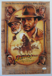 Harrison Ford Signed 12x18 Photo Indiana Jones And The Last Crusade Poster Jsa