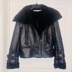Andrew Marc leather jacket women's size small $75.00