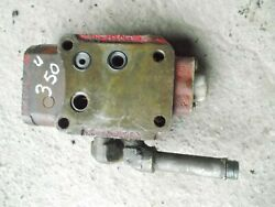 International 350 Utility Tractor Ih Hydraulic Control Valve Assembly + Ports