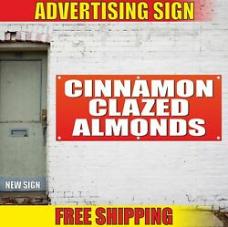 Cinnamon Clazed Almonds Advertising Banner Vinyl Mesh Decal Sign Nut Sweet Candy