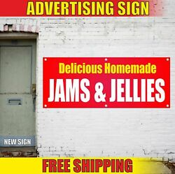 Delicious Homemade Jams Jellies Advertising Banner Vinyl Mesh Decal Sign Candy