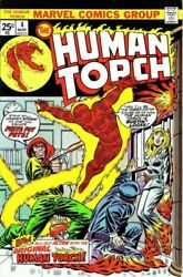 Human Torch 4 Vg/f From Strange Tales 104 Marvel Comics 1975 Stock Image