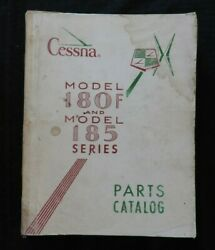 1962 1963 Genuine Cessna Model 180f And 185 Airplane Parts Catalog Manual