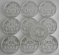 10 One Oz Hw Minting Heraldry Mint England Fine .999 Silver Coins Silver Round