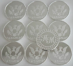10 One Oz Hw Minting Heraldry Mint The Americas Fine .999 Silver Coins Rounds