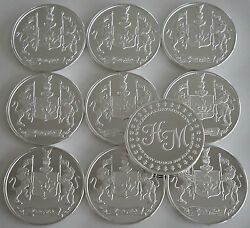 10 One Oz Hw Minting Heraldry Mint Canada Fine .999 Silver Coins Silver Round