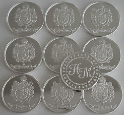 10 One Oz Hw Minting Heraldry Mint Spain Fine .999 Silver Coins Silver Round