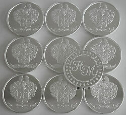 10 One Oz Hw Minting Heraldry Mint Italy Fine .999 Silver Coins Silver Round