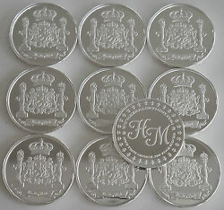 10 One Oz Hw Minting Heraldry Mint Germany Fine .999 Silver Coins Silver Round