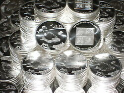 10 One Oz Hw Minting Company Hwmc Seabed Fine .999 Silver Coins Rounds Bullion