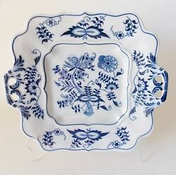 Blue Danube Japan Cookie Plate Handled Blue And White China Blue Onion Flowers