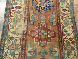 100 Years Old Authentic One Of A Kind Preserved Caucasian Kazak Rug 3'5x6'