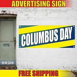 Columbus Day Advertising Banner Vinyl Mesh Decal Sign Christofer Party Holiday