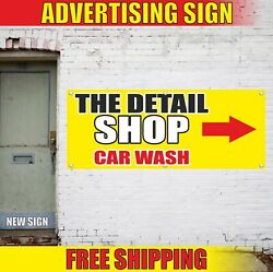 The Detail Shop Car Wash Advertising Banner Vinyl Mesh Decal Sign Store Auto Now