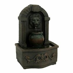 Tabletop Water Fountain Classic Lion Head Indoor Waterfall Soothing Sound