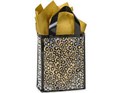Leopard Safari Plastic Cub Size Frosted Gift Bag Choose Tissue And Pack Amount