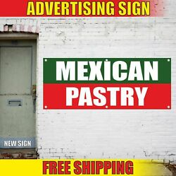 Mexican Pastry Advertising Banner Vinyl Mesh Decal Sign Bakery Candy Cake Shop