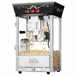 Great Northern Black Antique Countertop Style Popcorn Popper Machine 8 Ounce