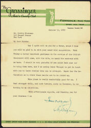 CHAIM WEIZMANN (ISRAEL) - TYPED LETTER SIGNED 10/12/1942