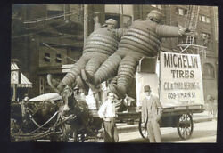 Real Photo Michelin Tires Parade Advertising Float Horse Drawn Postcard Copy