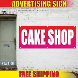 Cake Shop Advertising Banner Vinyl Mesh Decal Sign Store Bakery Now Open Cup Pie