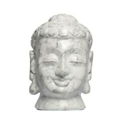 Antique Marble Stone White Howlite Buddha Statue For Home Decor And Gifts