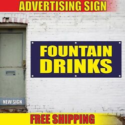 Fountain Drinks Advertising Banner Vinyl Mesh Decal Sign Soda Water Ice Limonade
