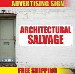 Architectural Salvage Advertising Banner Vinyl Mesh Decal Sign Vintage Anticue