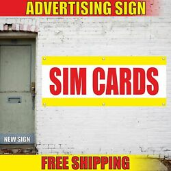 Sim Cards Advertising Banner Vinyl Mesh Decal Sign Sold Here Now Open Mobile New