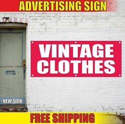 Vintage Clothes Advertising Banner Vinyl Mesh Decal Sign Second Hand Pawn Shop