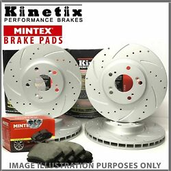 aa41 For Ford Focus 2.0 ST 12-18 Front Rear Drilled Grooved Discs Pads