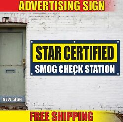 Star Certified Smog Check Station Advertising Banner Vinyl Mesh Decal Sign Test
