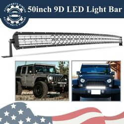 50 Inch 700w Led Light Bar Curved 9d Spot Flood Offroad Driving Ute 4wd For Ford