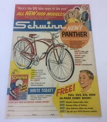 1959 Schwinn NEW PANTHER bicycle ad page