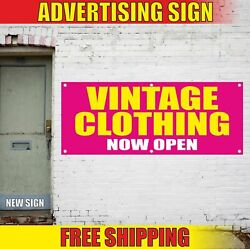 Vintage Clothing Now Open Advertising Banner Vinyl Mesh Decal Sign Pawn Shop New