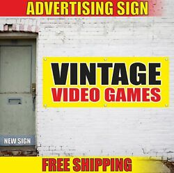 Vintage Video Games Advertising Banner Vinyl Mesh Decal Sign Pawn Shop Consoles