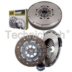 ECOCLUTCH 3 PART CLUTCH KIT AND LUK DMF FOR AUDI COUPE COUPE 2.8 QUATTRO