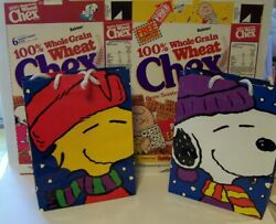 Snoopy Chex Cereal Boxes Bags Peanuts Advertising Vintage Charlie Brown Lot Of