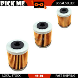 3pcs 2nd Oil Filter For Ktm 400 Sx / Mxc / Exc 2004 2005 Local Stock
