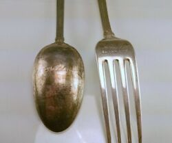 Wallace French Regency Display Sterling Silver Spoon And Fork Set