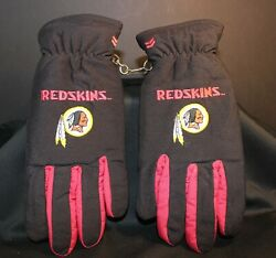 Washington Redskins - Adult Lined Gloves - Mens Small /med - Leather Palm/thumb